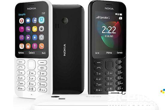 具体的设计上,诺基亚222为116x50x12.9mm,重量79克,采用2.4寸QVGA屏幕,有黑色和白色。值得注意的是,该机还有MicroSD卡槽,最大扩展到32GB,另外标配手电筒功能。
